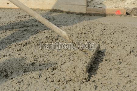 even with iron rakes concrete