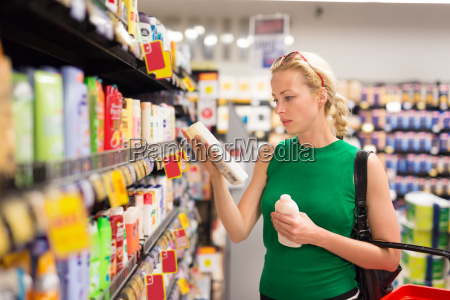 woman shopping personal hygiene products at
