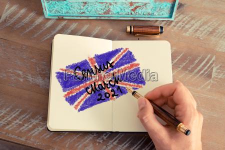 census 2021 united kingdom written on