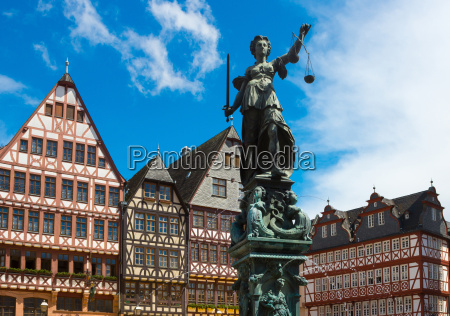 the old town with the justitia