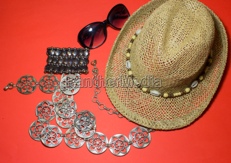 stylish summer beach accessories vacation mood