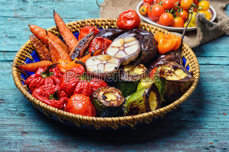 dish of baked vegetables