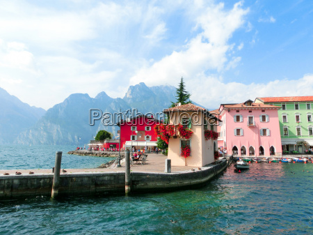 torbole italy lake garda boardwalk