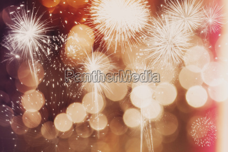 fireworks at new year