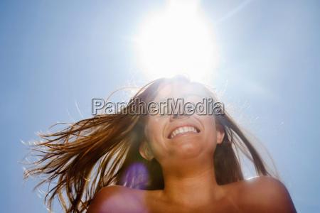 teen in sunny day