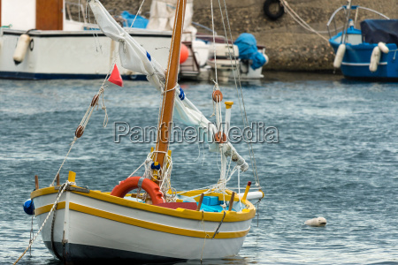 the colored sailboat
