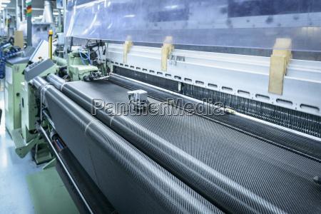carbon fibre loom in detail in