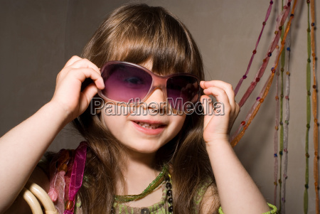 girl dressed in party clothes