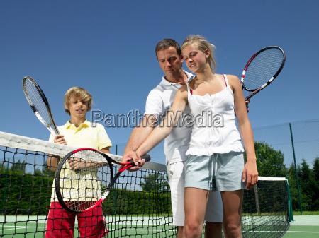 tennis lesson under the heat