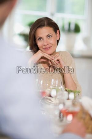 woman having romantic feelings
