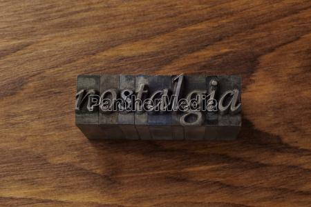 lead type spelling nostalgia