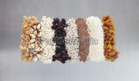 hand made granolamuesli with raisins currants