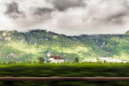 mansion in rural landscape