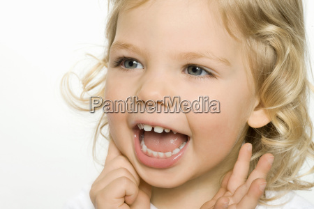 close up of girl smiling