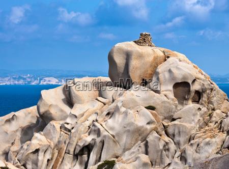 rock formations on coastline