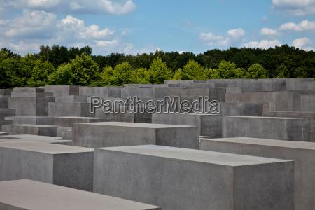 concrete sculptures in rural landscape