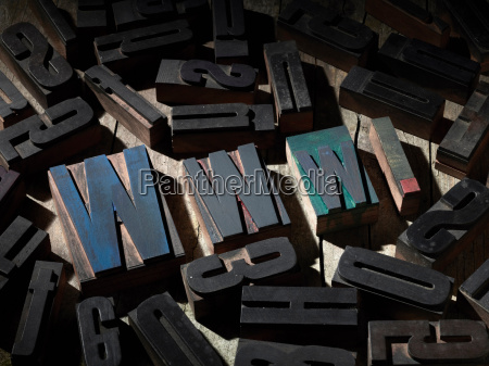 wooden blocks spelling www