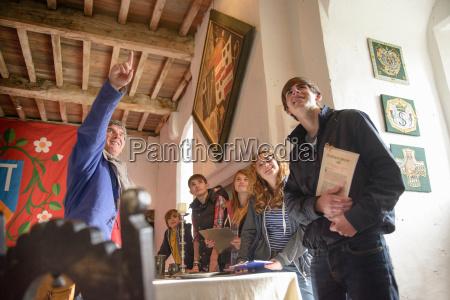 history students and teacher bolton castle