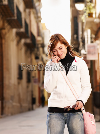 young woman on mobile phone in