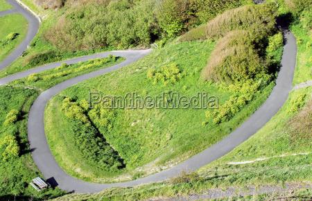 winding path on a hillside