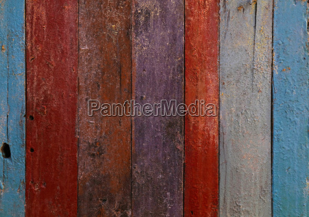 multicolor painted old grunge wooden planks