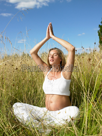 pregnant woman in a yoga session