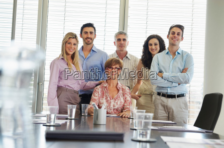group portrait of business people