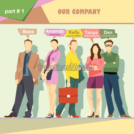 business company roles situation infographics with