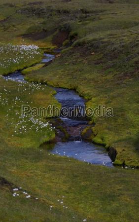 aerial view of river in rural