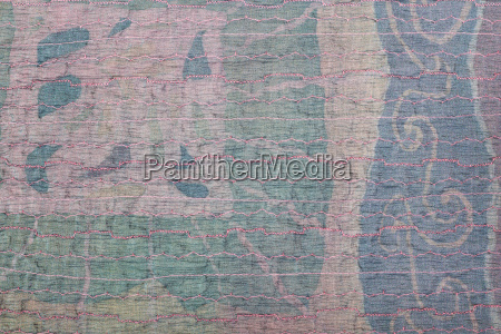 transparent stitched clenched silk cloth and