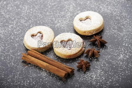 christmas cookies and icing sugar