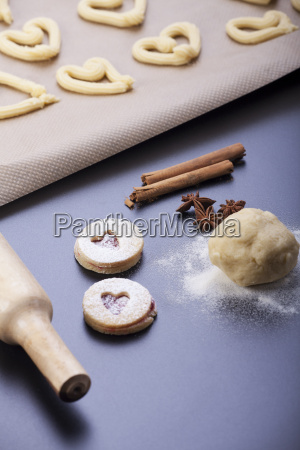 production of shortbread biscuits with a