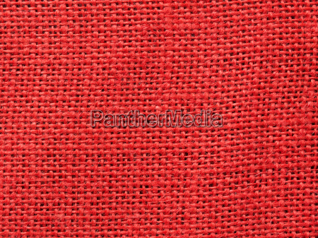 red burlap fabric texture background
