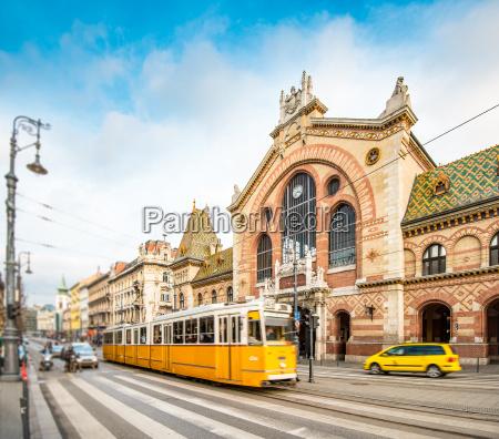central market hall budapest hungary europe