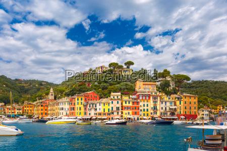 panorama of portofino italian riviera liguria