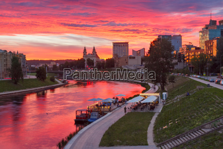 vilnius at sunset lithuania baltic states