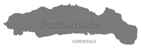 gorontalo indonesia map grey