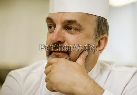 portrait of a male head chef