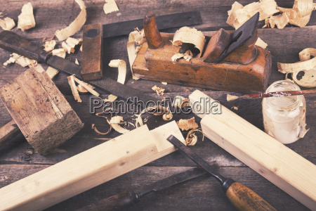 carpentry vintage woodworking tools on