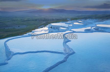 travertine terrace pools pamukkale anatolia turkey