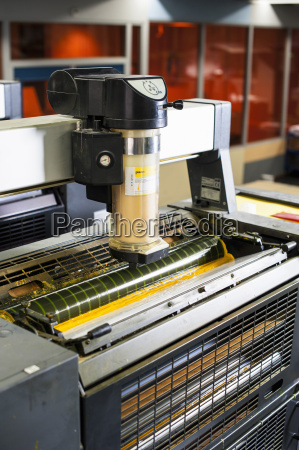 printing machine in print workshop