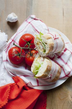 ciabatta and tomatoes