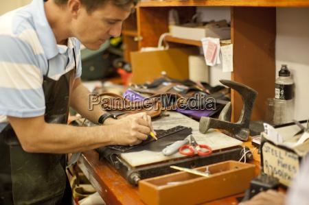 cobbler at workshop