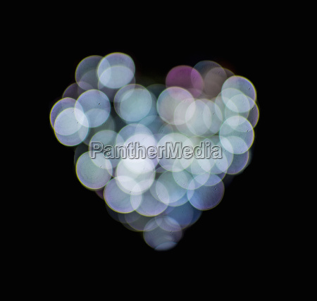 valentines abstract heart shaped lights