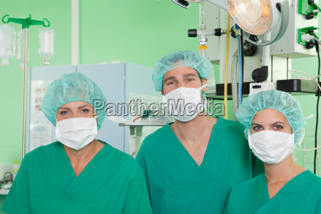 medical team with operation masks