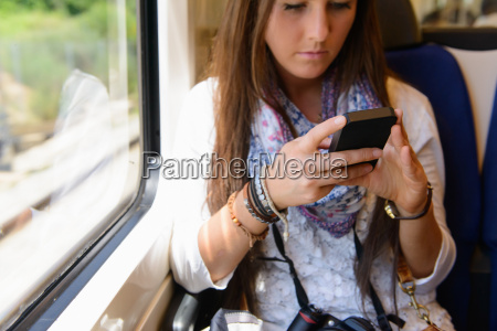 young female tourist on traveling on