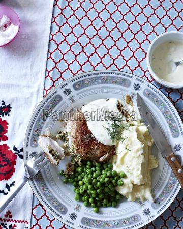 still life of ukrainian meal with