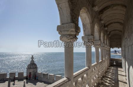 belem tower portico detail lisbon portugal