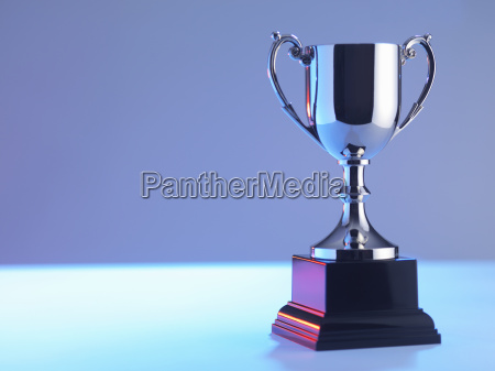trophy at award ceremony