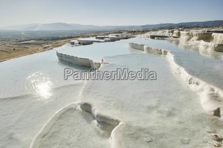 white hot spring terraces pamukkale anatolia